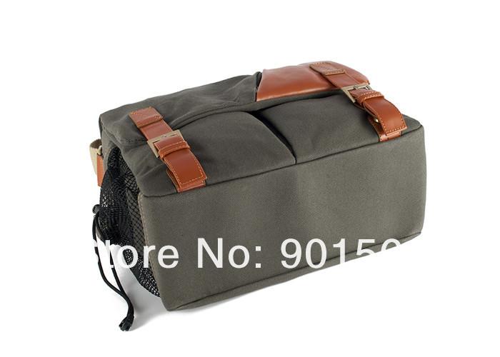 New fashion Vintage canvas Leather camera bag Messenger bag for DSLR Camera and lens 912