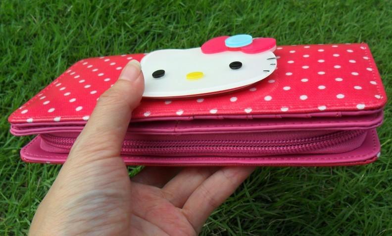 Бумажник с зеркалом для девочек