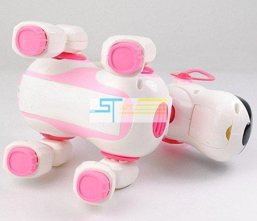 Радиоуправляемый робот-собака Smart Dog с ИК-пультом, белый с розовым