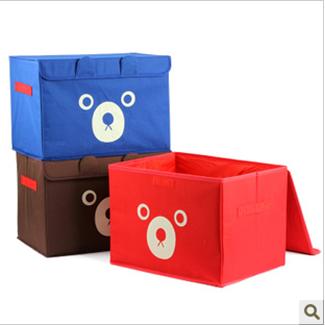 Тканевый ящик для всякой всячины с медведем, 40х28х27 см