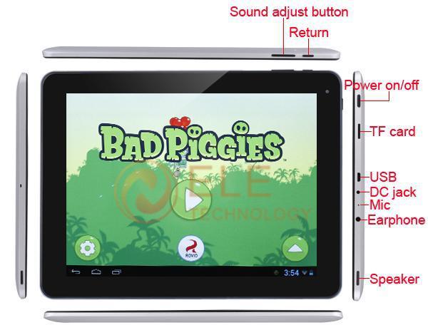 Cube U9GT5 (U9GTV) - планшетный компьютер, Android 4.1, 9.7