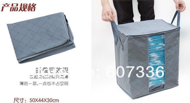 Мягкий бамбуковый ящик GREEN EAGLE для одежды и белья, 65 л, 50х44х30 см