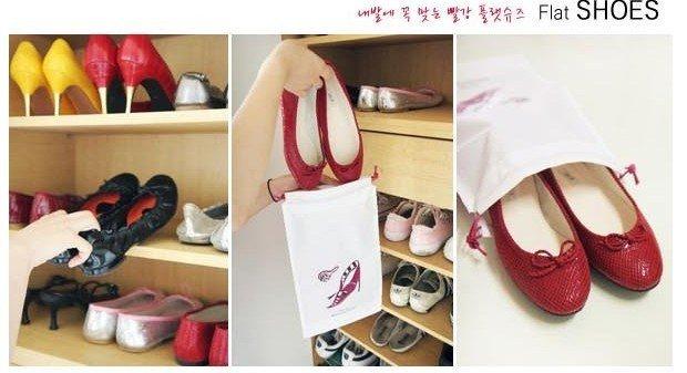 Мешочки для обуви на шнурках, 20 шт.