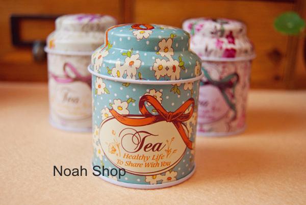 Набор из 4 жестяных баночек для хранения чая