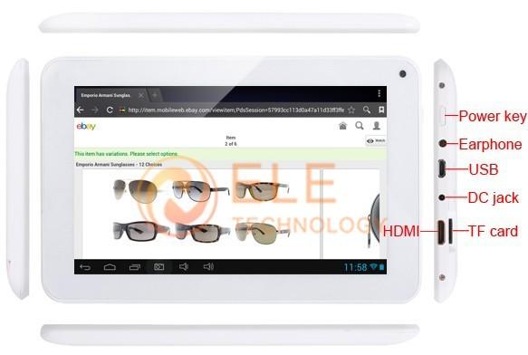 Cube U26GT - планшетный компьютер, Android 4.1.1, 7