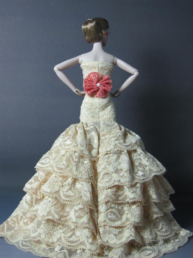Как сшить барби платье свадебное платье 5
