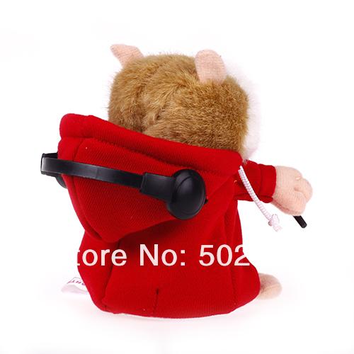 Мягкая игрушка - хомяк-диджей говорящий