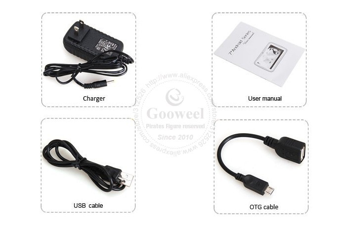 Gooweel Q99 - планшетный компьютер, Android 4.1, Allwinner A13 1.0GHz, 7.0