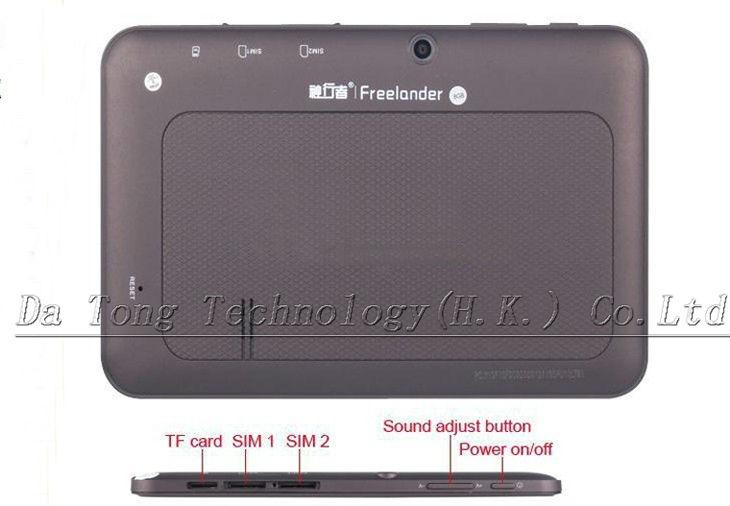 Freelander 3G  - планшетный компьютер, Android 4.0, MTK 6577 1.5Ghz, 7.0
