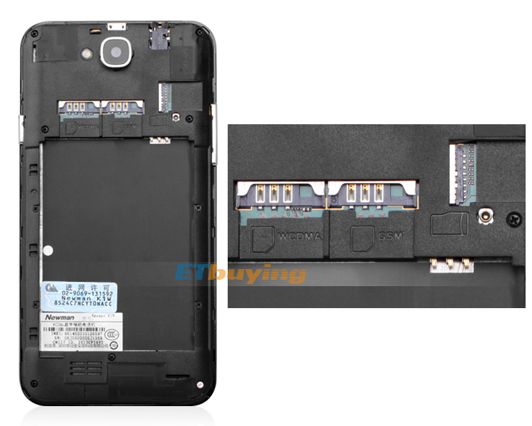 Newman K1 Panda - смартфон, Android 4.2, MTK6589 Quad core 1.2GHz; 5.3