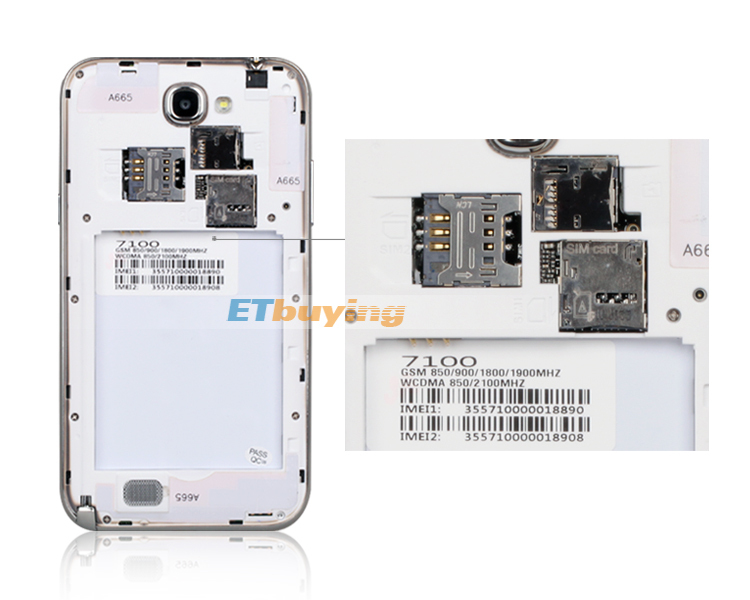 Feiyang 7100 - смартфон, Android 4.1, MTK6577 Dual Core 1.2GHz, 5.3