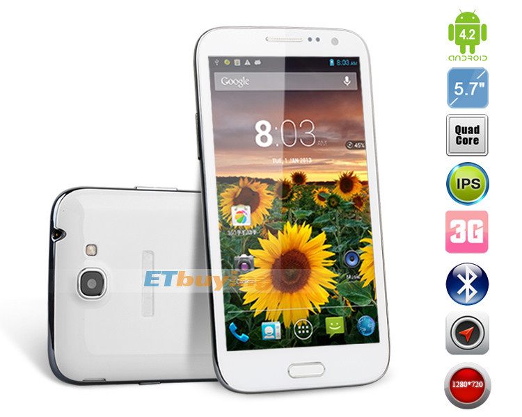 Bluebo N9000 - смартфон, Android 4.2, MTK6589T Quad Core 1.5GHz, 5.7