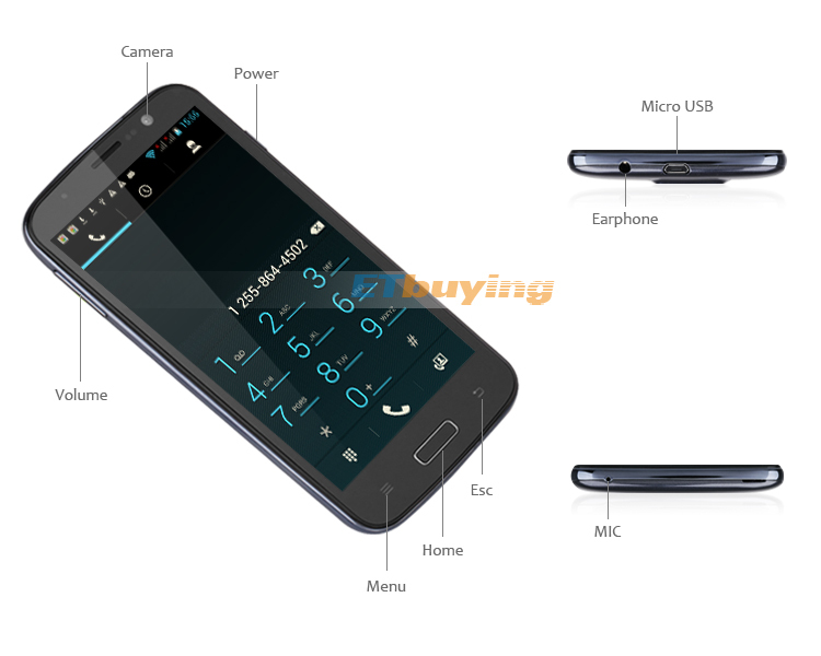 Newman NM890 - смартфон, Android 4.1.2, MTK6589 Quad Core 1.2GHz, 5.0
