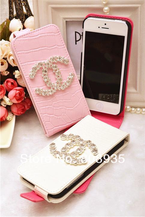 3D кожаный чехол Crystal Diamond для iPhone5, iPhone 4 4S