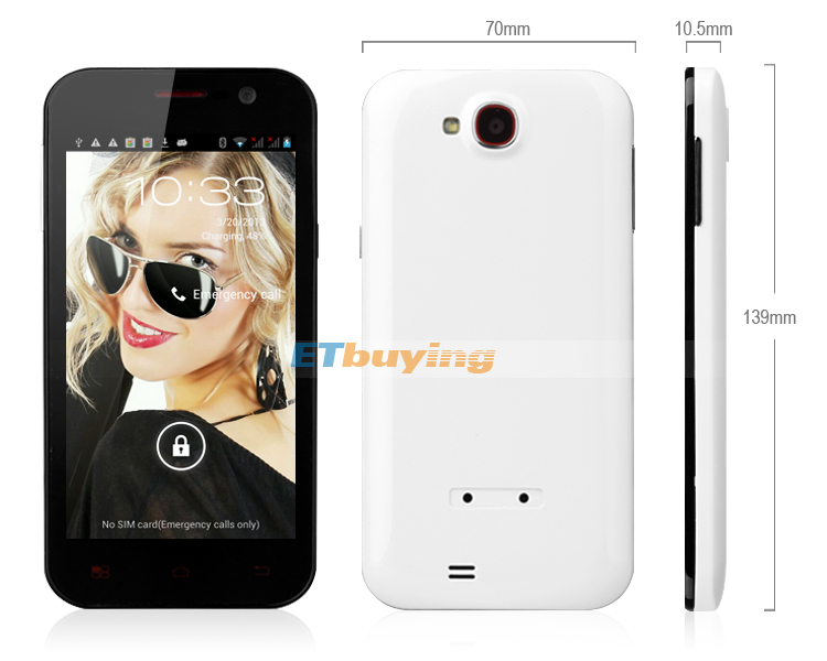 F600 - смартфон, Android 4.1, MTK6589 Quad Core 1.2GHz, 4.7