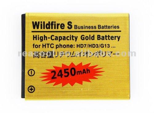 2 аккумулятора на 2450 mAh для HTC HD7 HD3 G13 Wildfire S + зарядная док-станция