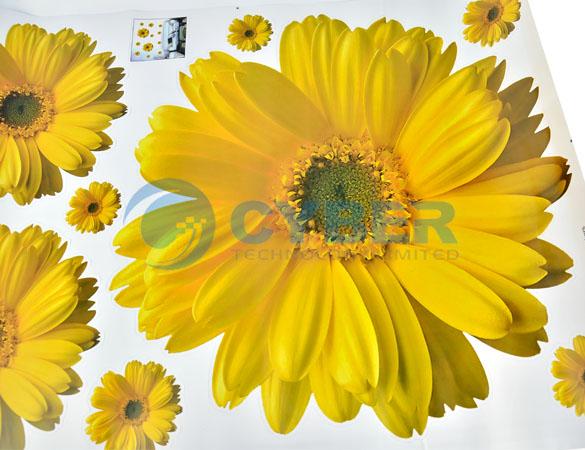 Наклека на стену 3D в виде хризантемы