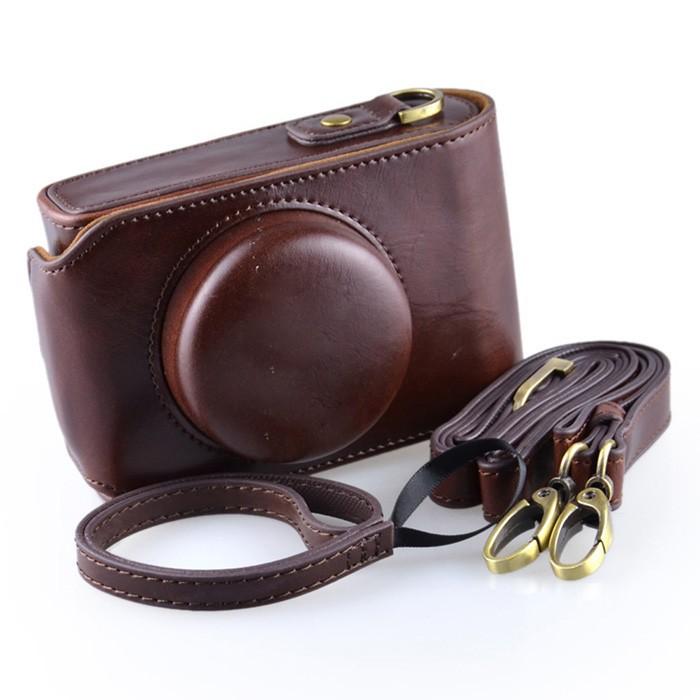 DSTE D6 - кожаный чехол-сумка для камеры Leica D-Lux6 D6 Lux6