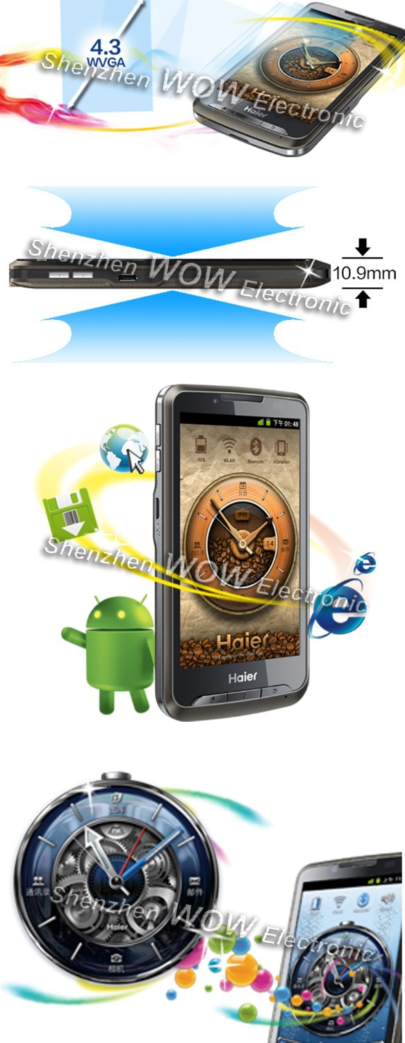 Haier HW-N88W - смартфон, Android, Marvell 968 1Ghz , 4.3
