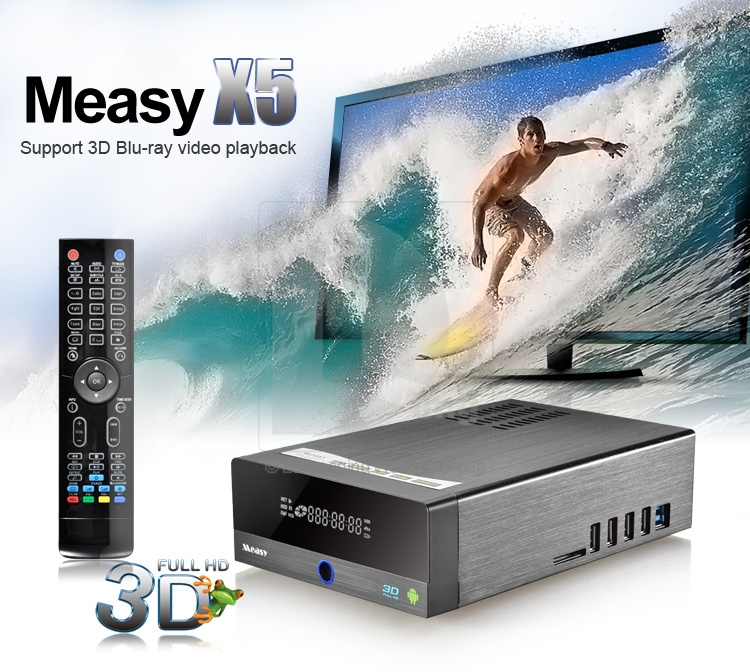 Measy X5 – видеоплеер, Full HD, HDMI, USB, RTD1186, Android