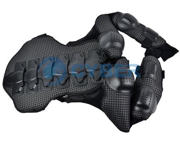 Костюм мотоциклиста размером L-XXXL с дополнительной защитой позвоночника и грудной клетки
