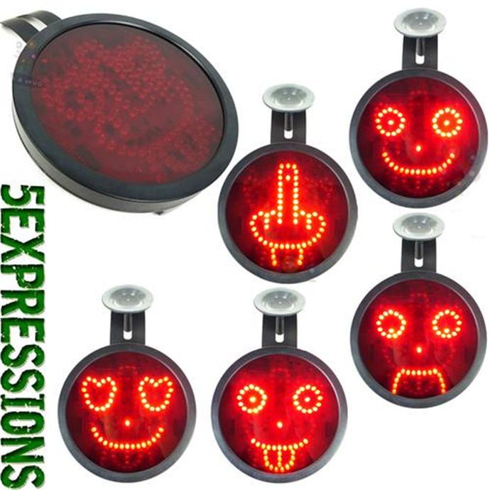 Светодиодный знак выражения эмоций, LED подсветка, креативная автомобильная лампа