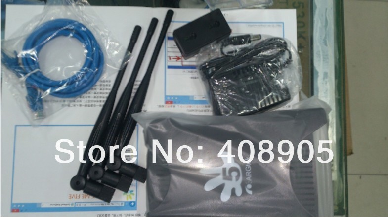 ARG-1211 ! Newest  Argtek WLAN High Power 1500mW DD-WRT 2T3R MIMO 300Mbps Wireless Router with Three Antenna Free shipping!