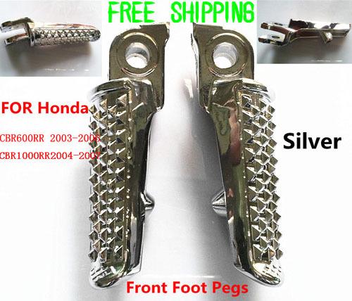 Передняя подножка, серебро, 10см, для Honda CBR 600RR, 1000 RR 600