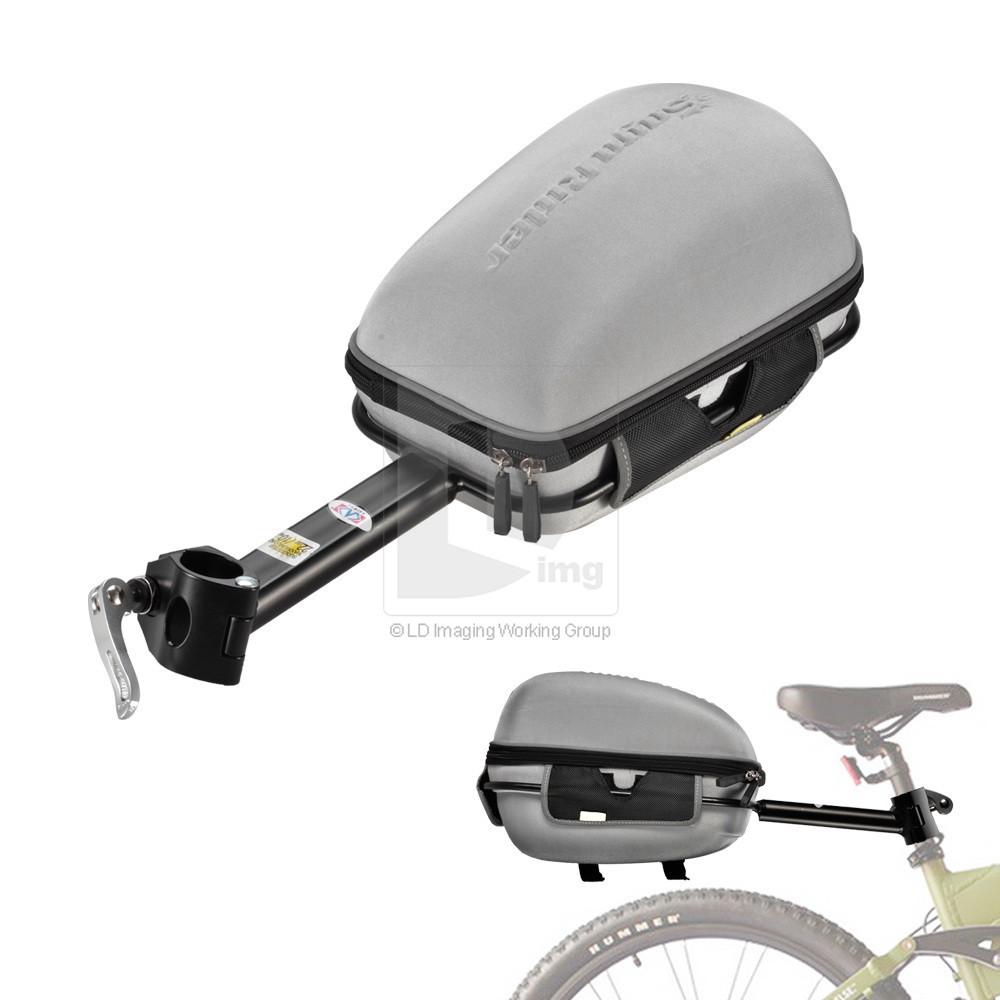Велосипедный металлический кейс на липучке + навесная полка с креплением к раме