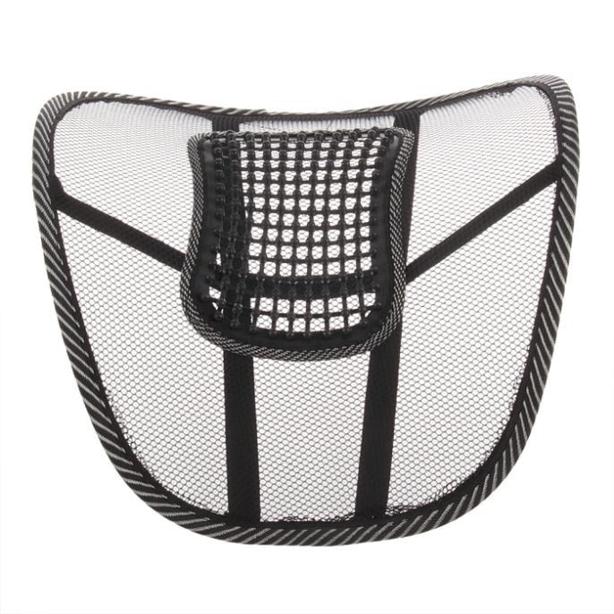 Массажер для кресла, с поддержкой поясницы, цвет черный, 160г