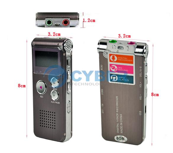 650HR - Цифровой диктофон, 8GB, LCD, MP3