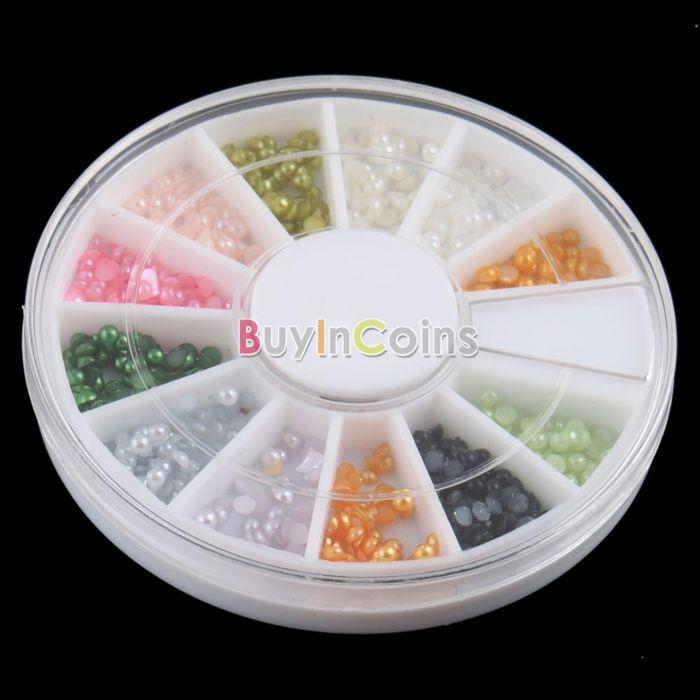 Набор стразов для ногтей (12 цветов)