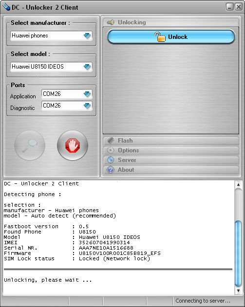 Устройство для разблокировки устройств Huawei/ZTE/INQ/CHAT через USB