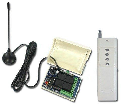 Беспроводной пульт дистанционного управления – 2000 м, 4 канала, 315/433 МГц, DC 9В/12В/24В, 4 режима управления