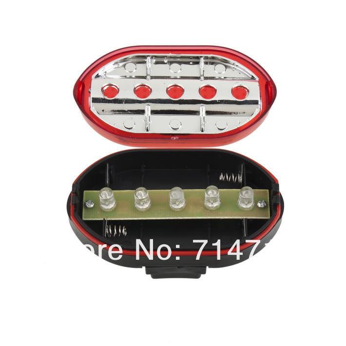 Велосипедная сигнальная фара, 5 LED диодов, мощная вспышка