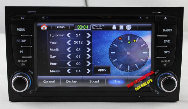 CANBUS - Автомагнитола для Audi A4, DVD, GPS, USB, Bluetooth, радио