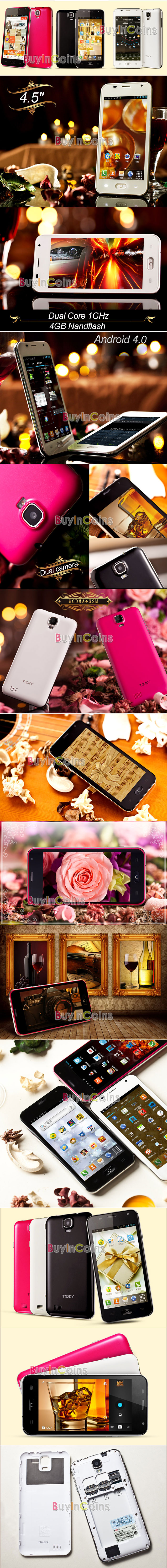 TOOKY T86 - смартфон, Android 4.0, MT6577 1GHz, 4.5