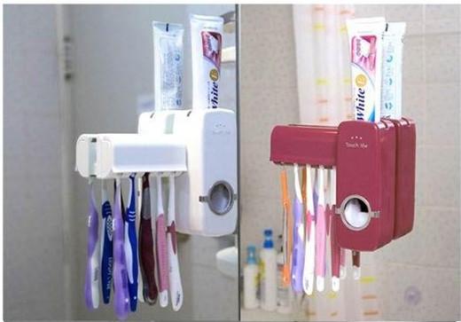 Диспенсер для зубной пасты с держателем для зубных щёток