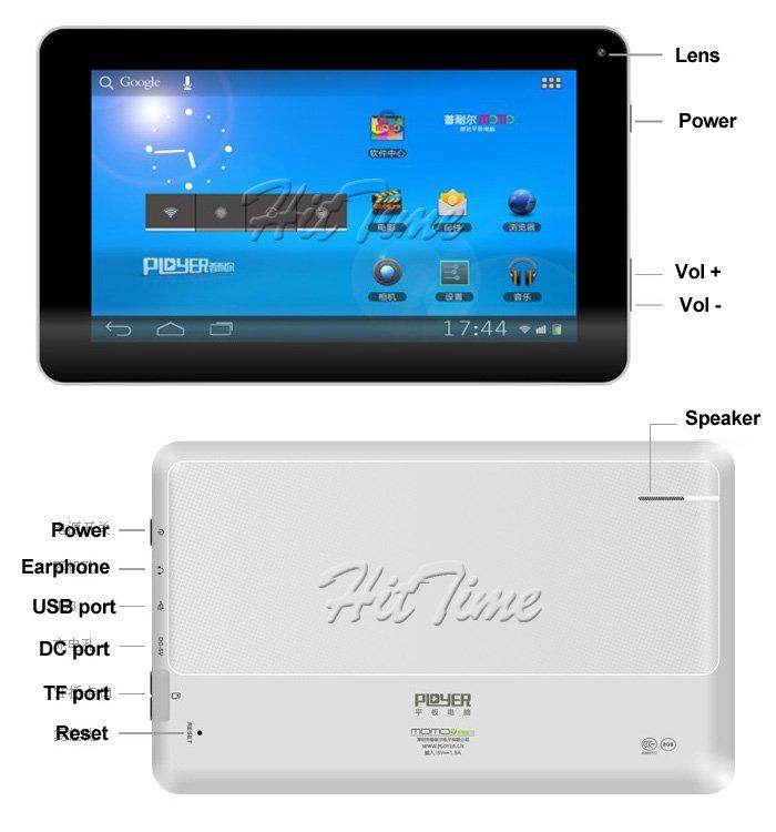 Ployer MOMO9 III - планшетный компьютер, Android 4.0, Allwinner A13 1.05GHz, 7
