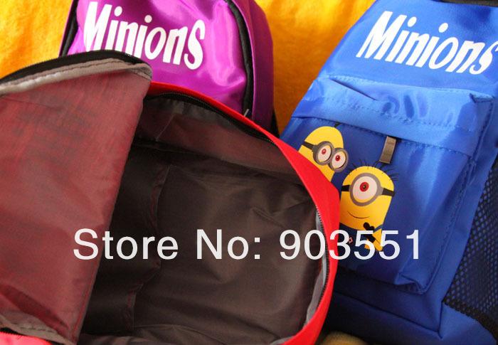 Детский школьный рюкзак с миньонами