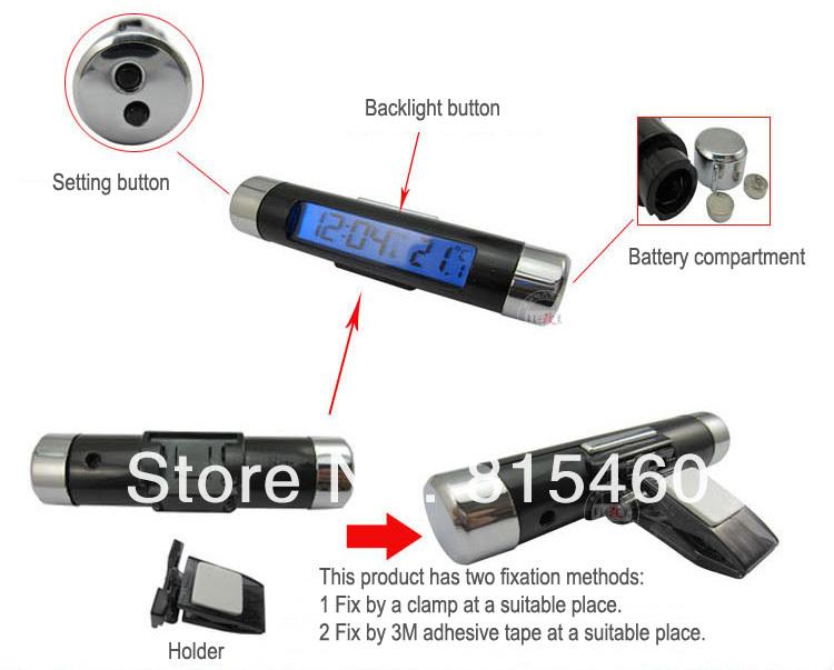 CT-20 - часы-термометр в автомобиль