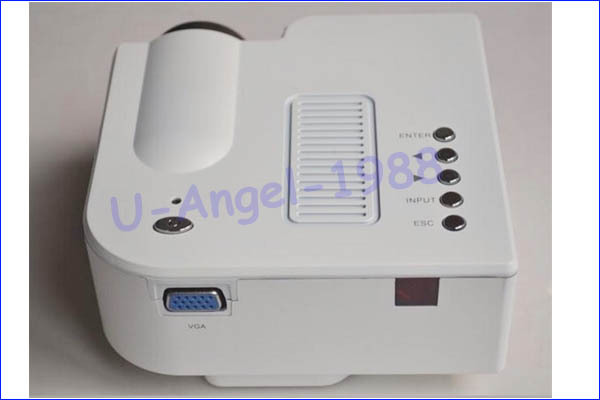 UC28 – миниатюрный Mini HD домашний проектор, 60'', домашний кинотеатр, VGA вход, USB