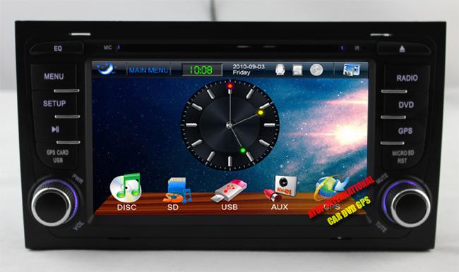 CANBUS - Автомагнитола для Audi A4, DVD, GPS, USB, Bluetooth, радио