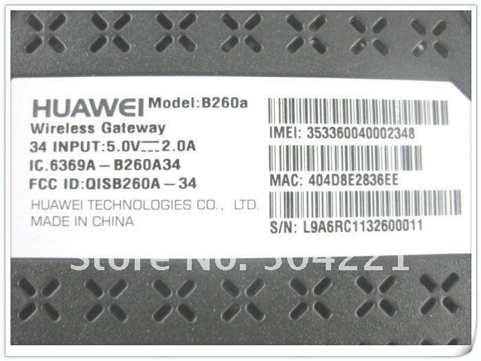 HuaWei B260a - 3G/WiFi Маршрутизатор