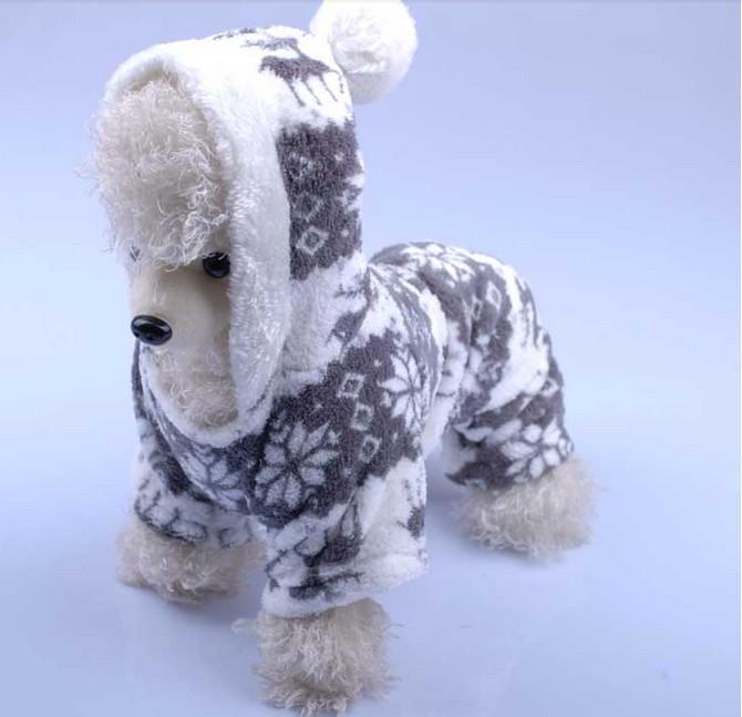 Вельветовое пальто с капюшоном для домашних животных