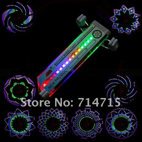 Велосипедная подсветка колеса, 16 светодиодов, 30 режимов, 3 х батарейки ААА в комплекте
