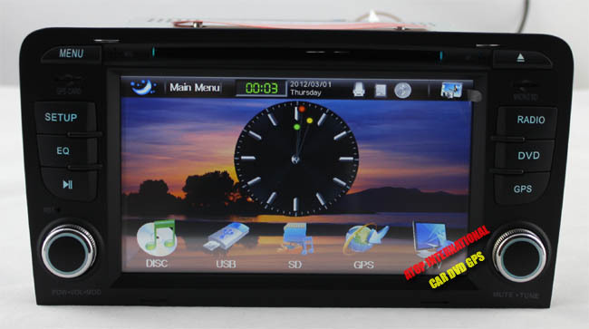 CANBUS - Автомагнитола для Audi А3, DVD, GPS, USB, Bluetooth, радио, TV + карта SD на 8GB