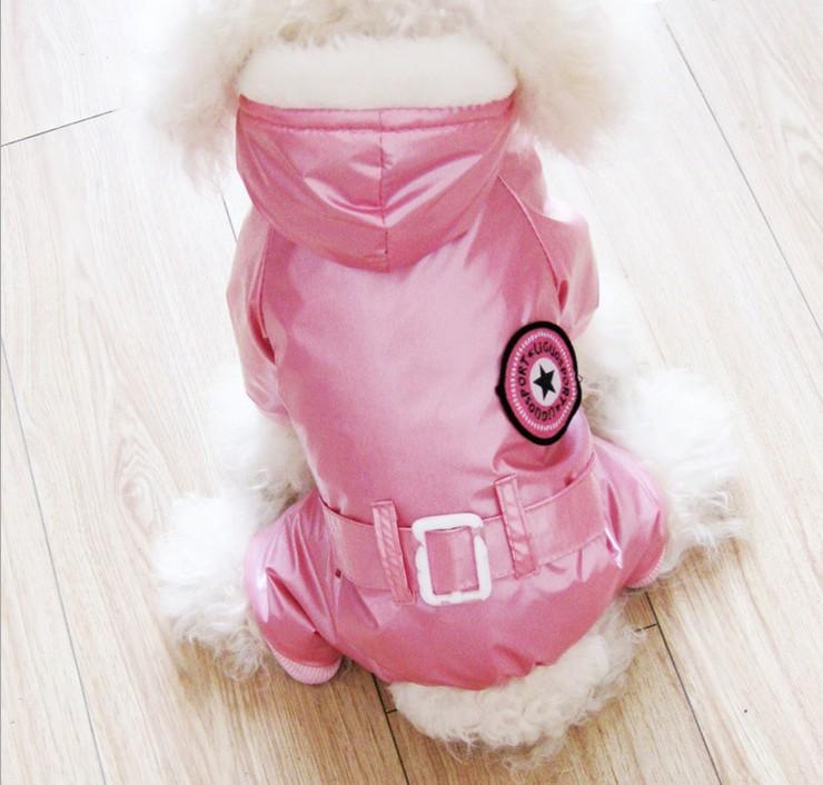 Зимняя курточка с капюшоном для домашних питомцев