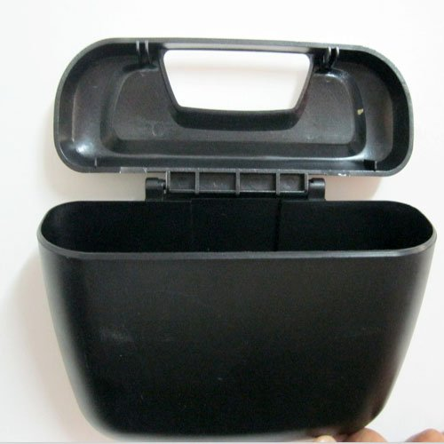 Автомобильный мини контейнер для мусора, пепла, навесной, с возможностью крепления