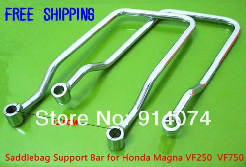 Держатели для боковых сумок, сталь, хром для Honda Magna VF250, VF750